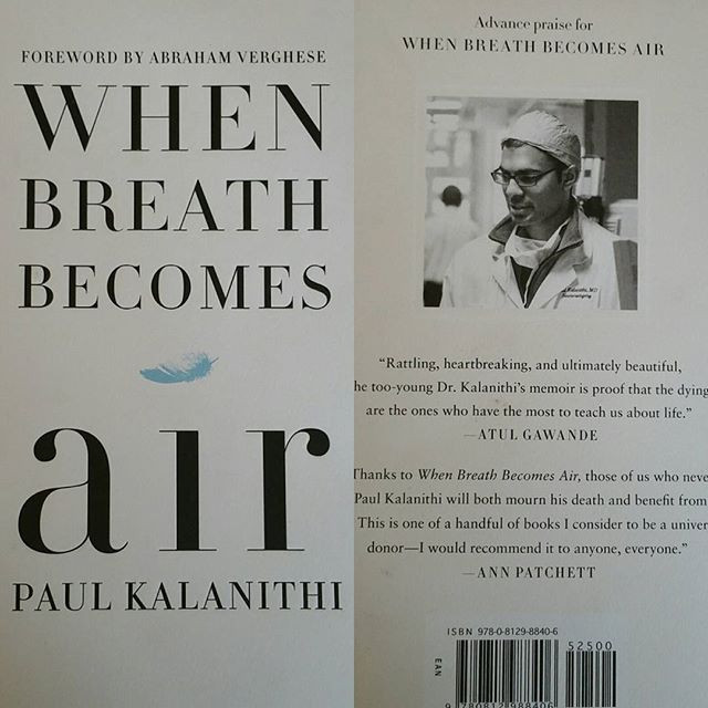 Cover and back jacket of When Breath Becomes Air