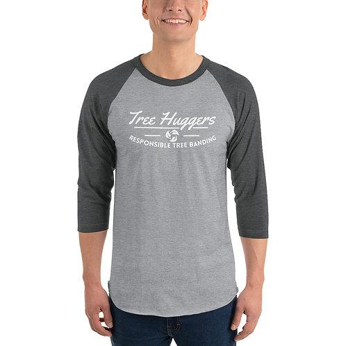 3/4 sleeve raglan shirt - TreeHuggers Logo
