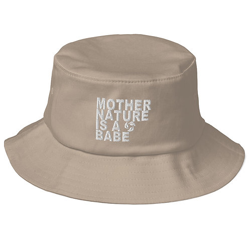 Old School Bucket Hat - Mother Nature