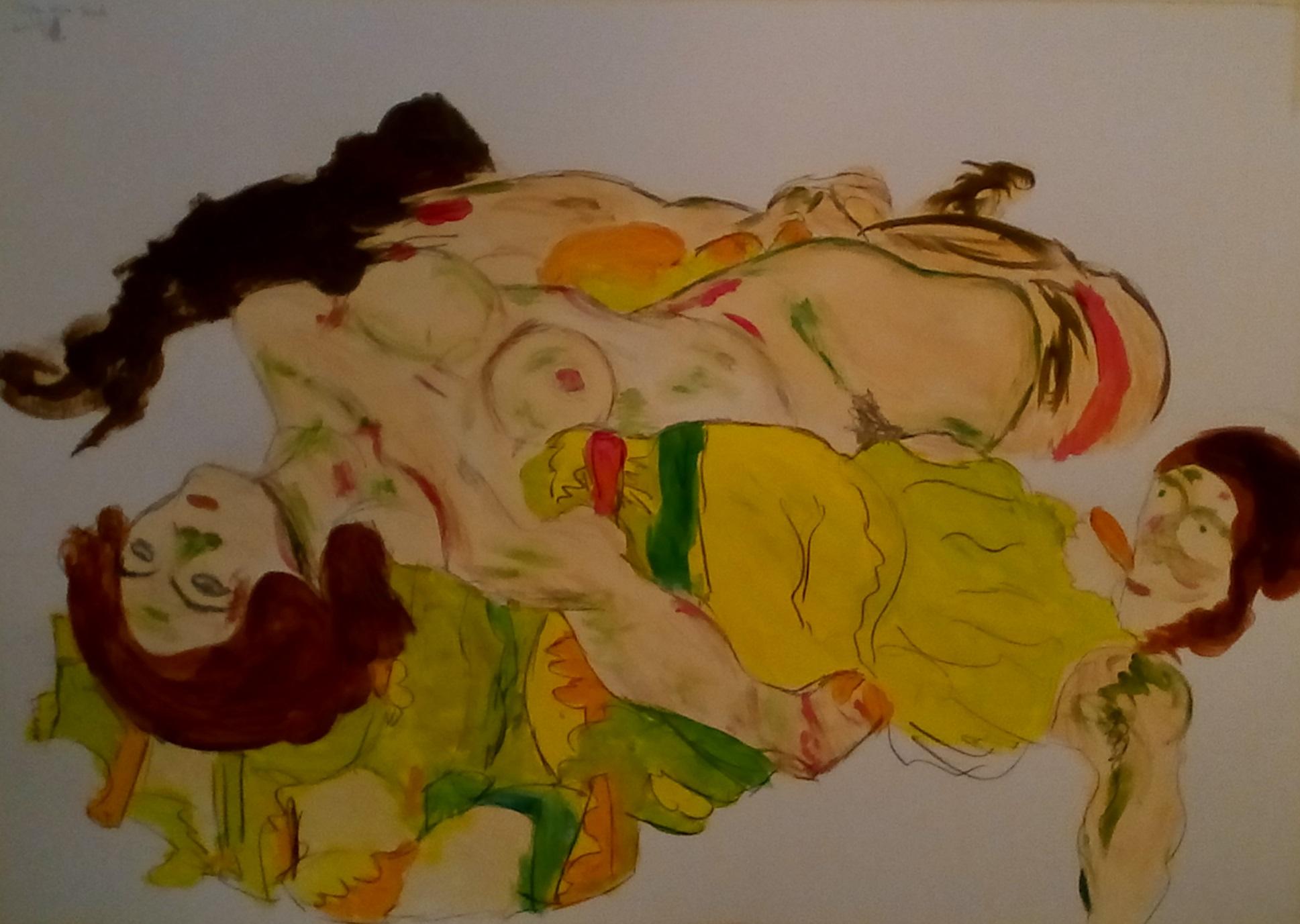 Peinture d'après Egon Schiele
