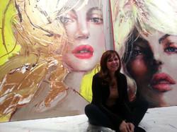 Corno in her NYC studio