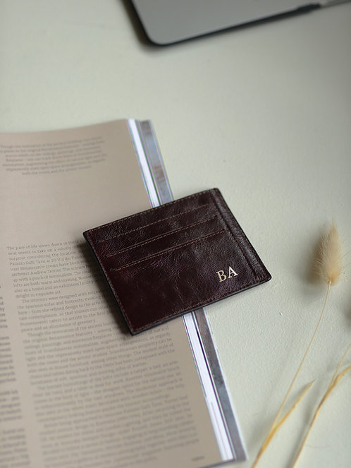 Smooth Brown Chocolate Cardholder