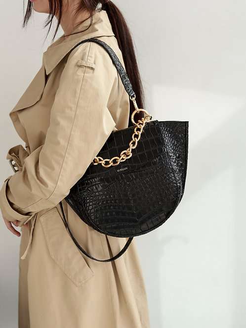 Half Moon Crocodile Bag