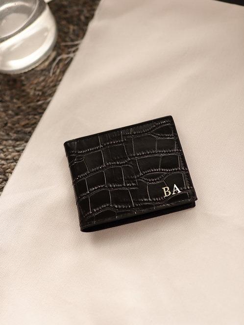 Black Shiny Crocodile Wallet