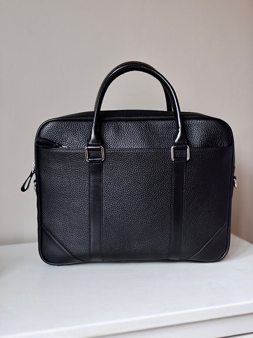 Black Grain Office Bag