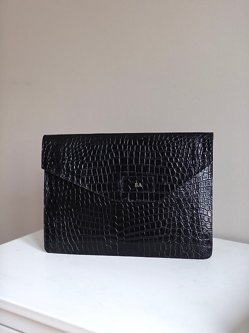 Etui na Laptop Black Crocodile