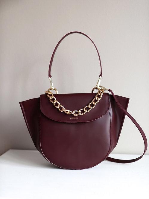 Burgundy Half Moon Bag