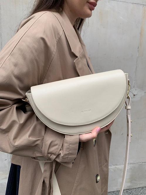 Cream Crossbody Luna Bag