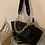 Thumbnail: Navy Blue Croco Half Moon Bag