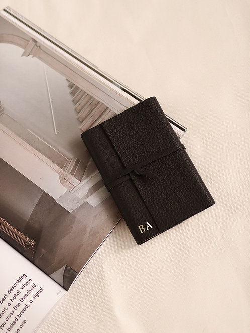 Black Grain Wrapped Diary