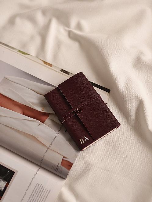 Burgundy Wrapped Diary