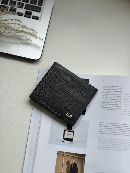 Portfel Boyfriend Black Crocodile