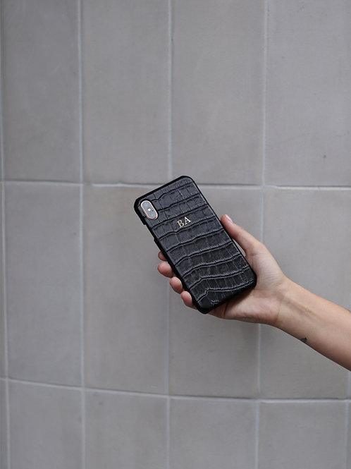 Etui na Phone Black Crocodile
