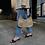 Thumbnail: Beige Croco Baguette Bag