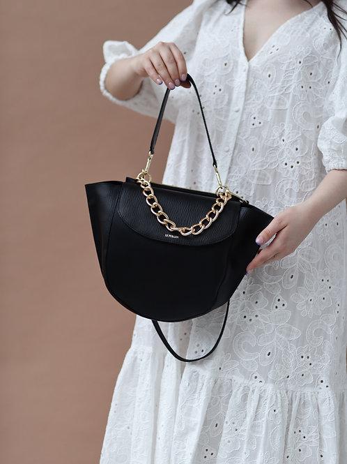Black Classic Half Moon Bag