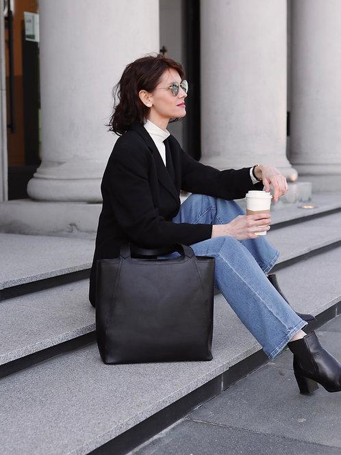 Black Classic Shopper Bag
