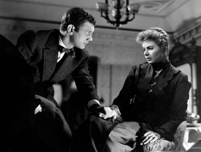 Still from Gaslight (MGM) with Joseph Cotten and Ingrid Bergman
