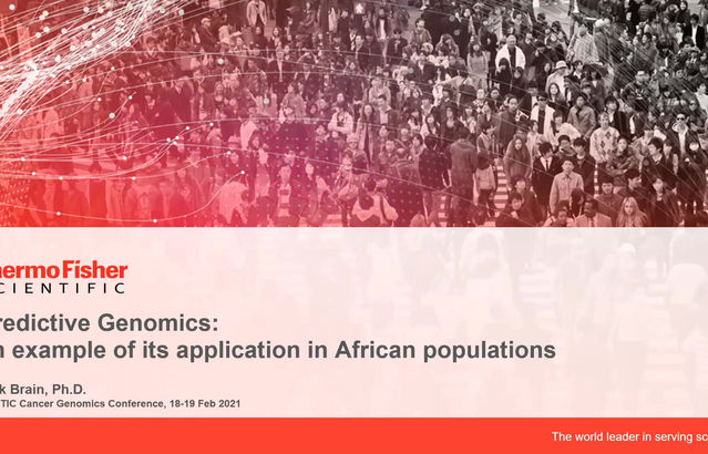 """Thermo Fisher Scientific- Predictive Genomics: an example of its application in African populations"""""""