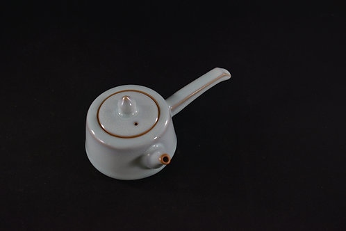 "Jun Porcelain Teapot from Song Dynasty Royal Kiln -""Side Handle Pot"""