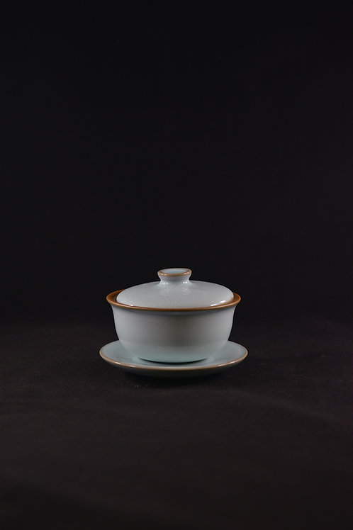 "Jun Porcelain Tea Cup from Song Dynasty Royal Kiln -""Cup of Triple Talents"""
