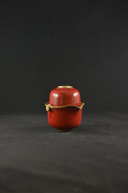 Jun Porcelain Teapot from Song Dynasty Royal Kiln - Teapot for Pouring, Red
