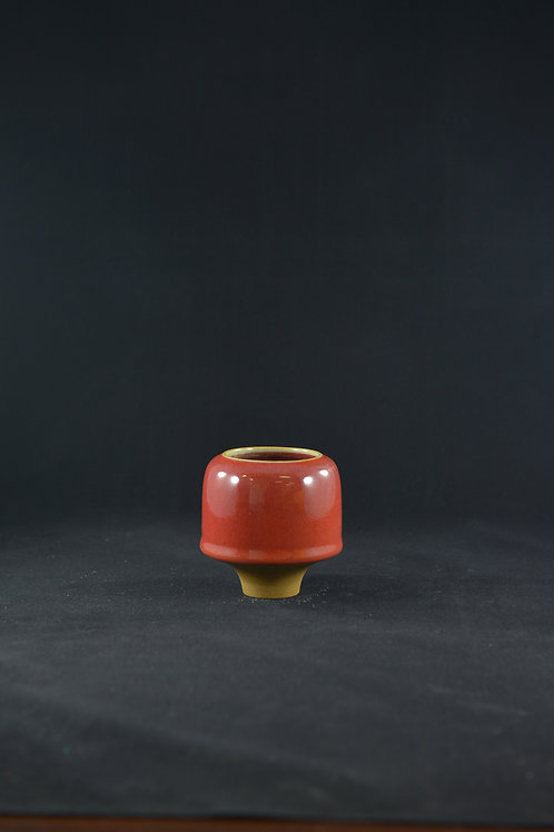 "Jun Porcelain Vase from Song Dynasty Royal Kiln -""Flower of Time"", Red"