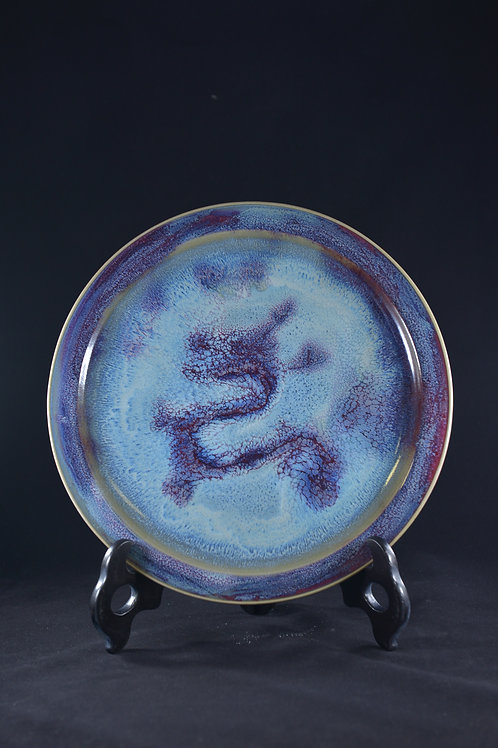 """Jun Porcelain Decoration from Song Dynasty Royal Kiln -""""Hanging Plate"""""""