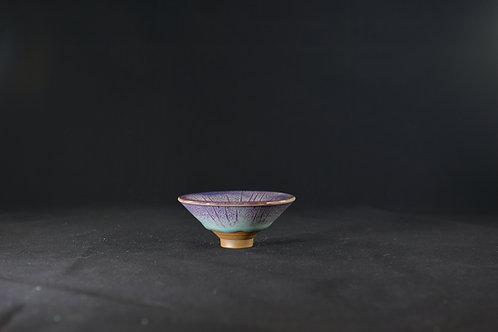 """Jun Porcelain Bowl from Song Dynasty Royal Kiln -""""Bowl of Bamboo Hat"""", Blue"""