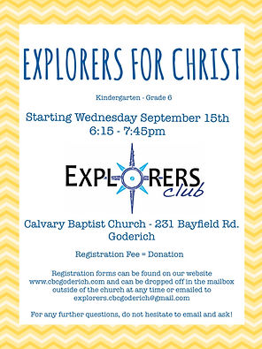 Explorers for Christ poster