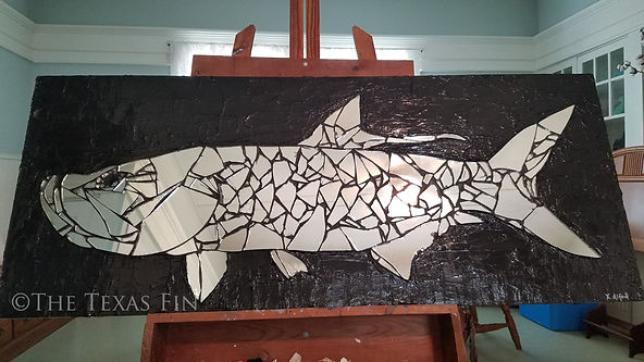 Full Moon Poon Mirror Mosaic Tarpon with