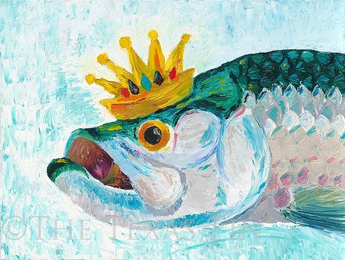 Tarpon, Fishing, Silver King, Oil painting