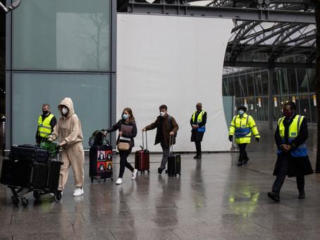 Britain begins quarantining travelers in hotels, seeking to keep out new virus variants.