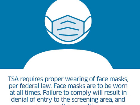 TSA to implement Executive Order regarding face masks at airport security checkpoints and throughout