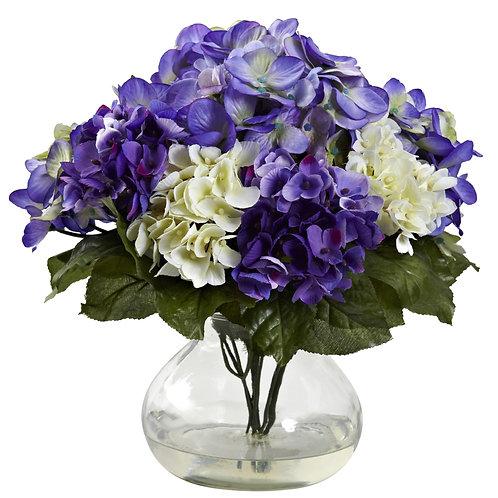 Mixed Hydrangea w/ Vase