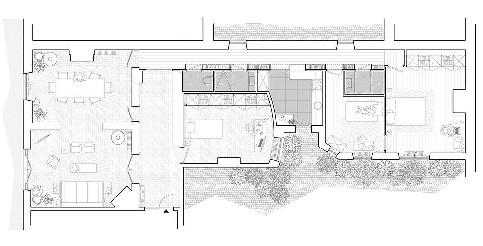 REVERS Atelier d'architecture I Rénovation appartement haussmannien I Paris I Suffren I plan projet