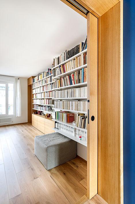 REVERS Atelier d'architecture I Unification de deux appartements mitoyens et restructuration des aménagements intérieurs I Paris, 13e I photos Thibault Pousset 05