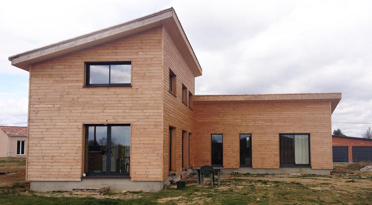 REVERS Atelier d'architecture I Création d'une maison écologique en ossature bois I Fronton I photos REVERS 04