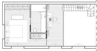 REVERS Atelier d'architecture I Création d'une maison écologique en ossature bois I Fronton I plan projet R+1