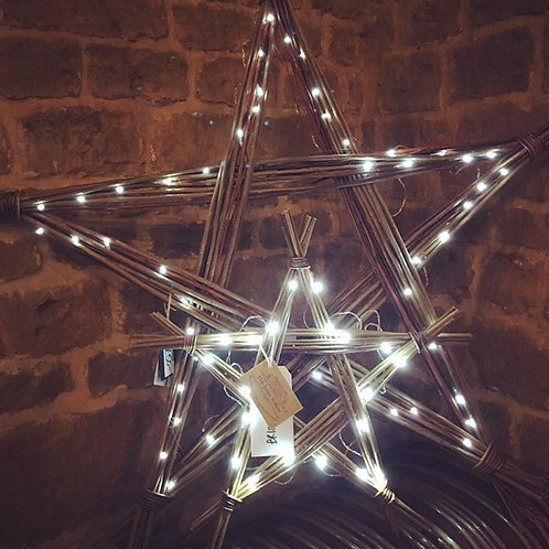 Giant Star Decoration featuring 50 LED lights in Bright White
