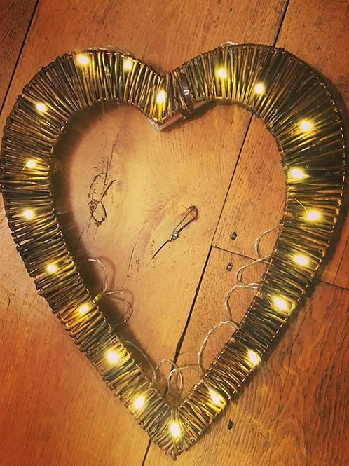 Handmade Heart Shaped Decoration with LED Lights