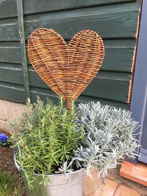 Heart Shaped Willow Planter Decoration / Serving Platter