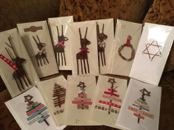 Cards with willow reindeer