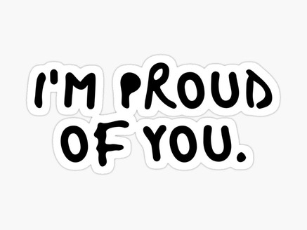 """""""You might be proud of me Mum"""""""