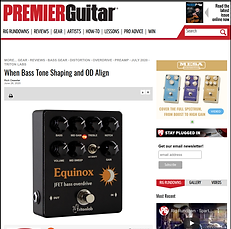 Equinox bass preamp overdrive