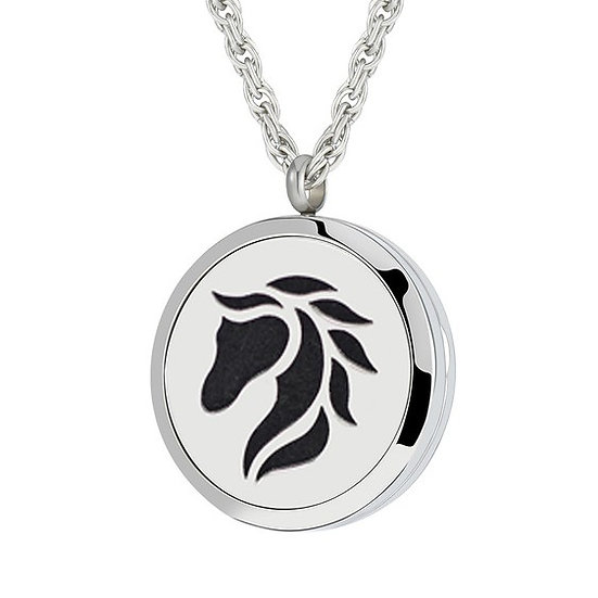 Essential Oil aroma Necklace Horse