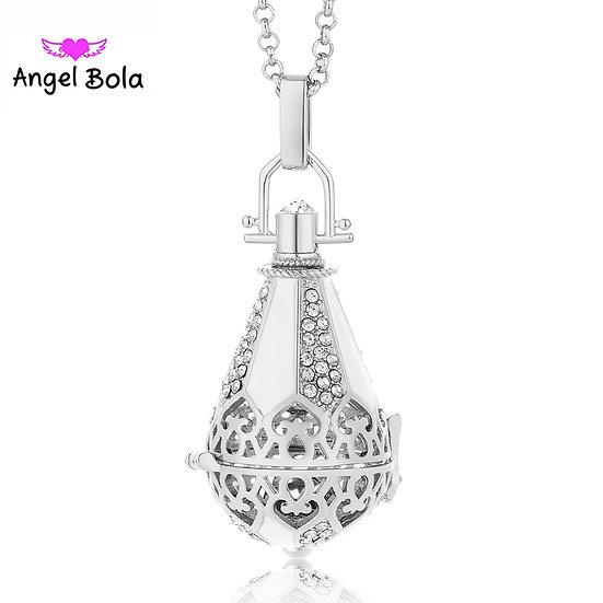 Diffuser Necklace Drop style  silver/Black