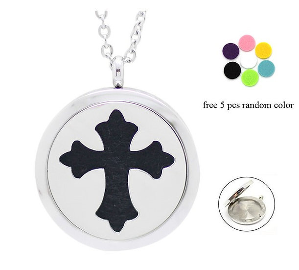 Essential Oil aroma Necklace Cross