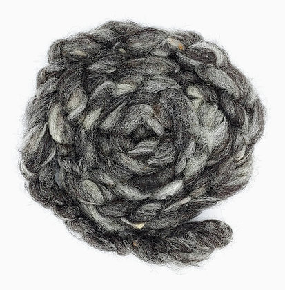 """""""Shades of Grey"""" Finnsheep/Alpaca Roving - sold by the ounce"""