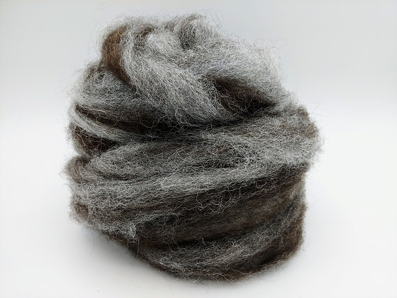 White & Dark Rose Grey Blend - Finnsheep and Alpaca - sold by the ounce