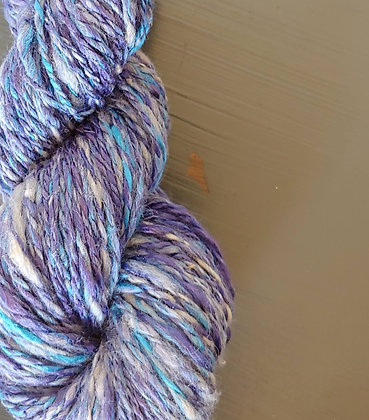 Hand-dyed Finnsheep/Silk Blend  Yarn
